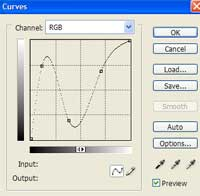 Chrome Font - Step 3 - Curves